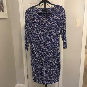 Ralph Lauren Blue Dress - Size 14p